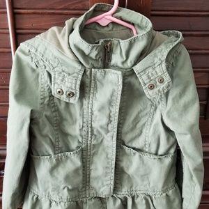 3b19542ac9e78a Army jacket, child size 3. Super cute on, layered.